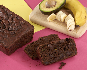 Chocolate Avocado Banana Bread